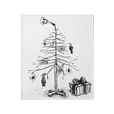 Gothic Christmas Tree Throw Blanket