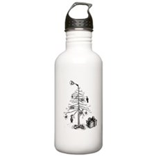 Gothic Christmas Tree Water Bottle