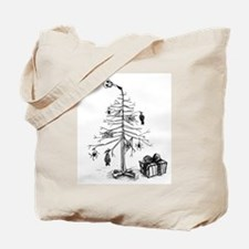 Gothic Christmas Tree Tote Bag