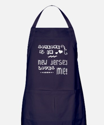 Someone In New Jersey Loves Me Apron (dark)
