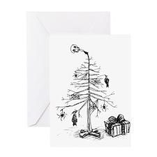 Gothic Christmas Tree Greeting Card