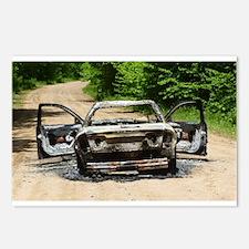 Burnt Car Postcards (Package of 8)