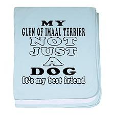 Glen of Imaal Terrier not just a dog baby blanket