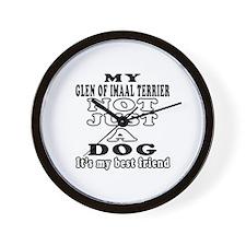 Glen of Imaal Terrier not just a dog Wall Clock