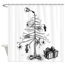 Gothic Christmas Tree Shower Curtain