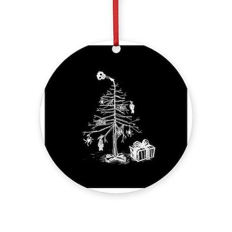 Gothic Christmas Tree Ornament (Round)
