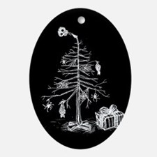 Gothic Christmas Tree Ornament (Oval)