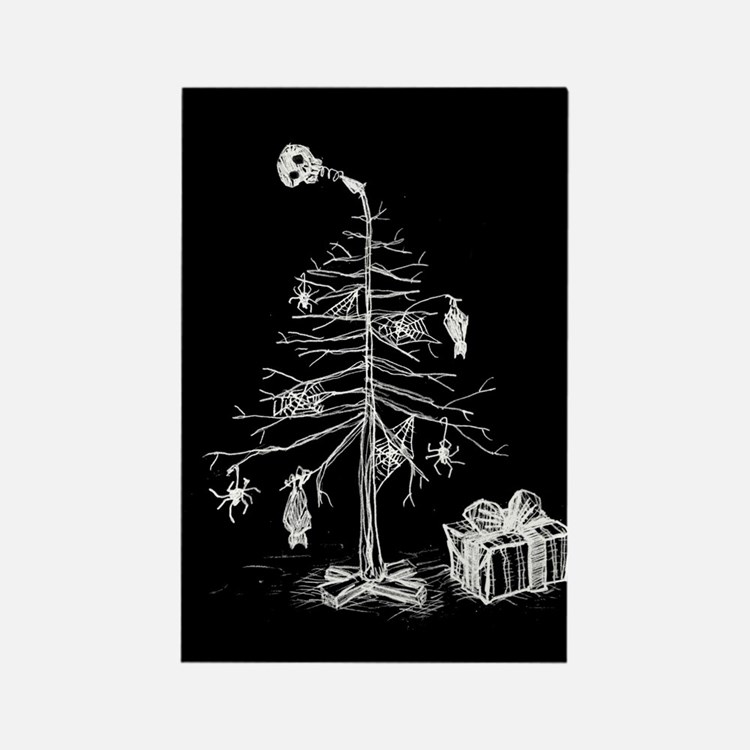 Gothic Christmas Tree Rectangle Magnet