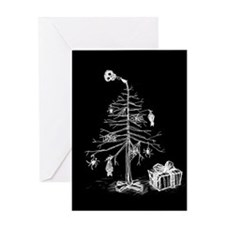 Gothic Christmas Tree Greeting Card