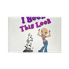 Bald Beautiful Girl Rectangle Magnet