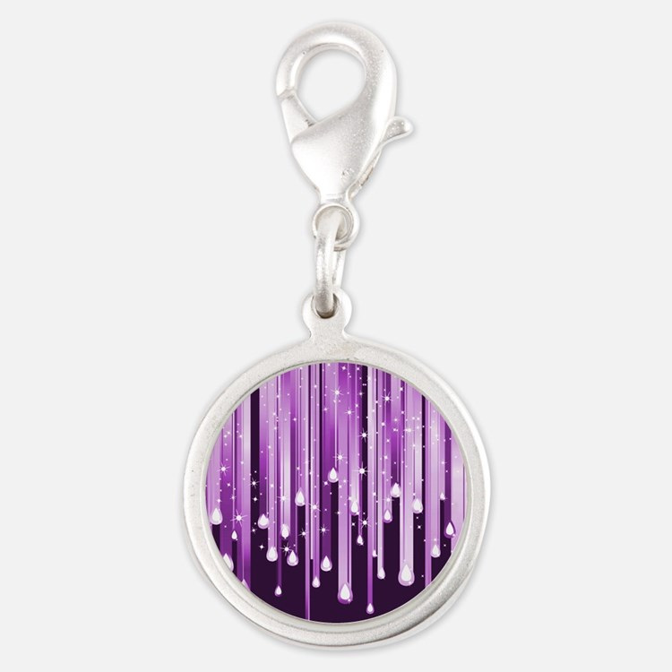 Dripping Purple Sparkles Charms