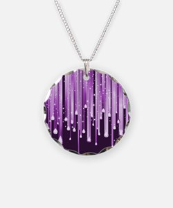 Dripping Purple Sparkles Necklace
