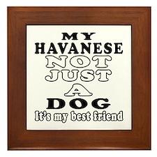 Havanese not just a dog Framed Tile