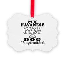 Havanese not just a dog Ornament