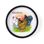 Cochins Trio Wall Clock
