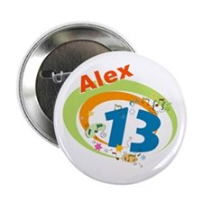"""Cute Bar mitzvah party 2.25"""" Button (10 pack)"""