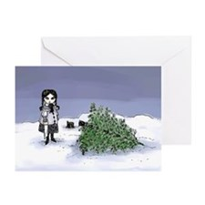 Felling The Holiday Tree Greeting Cards (Pk of 20)