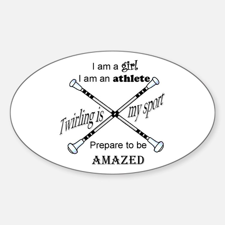 Twirling Athlete Decal