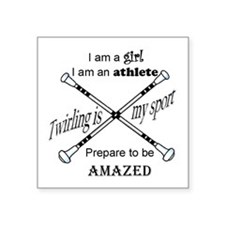 Twirling Athlete Sticker
