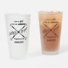 Twirling Athlete Drinking Glass