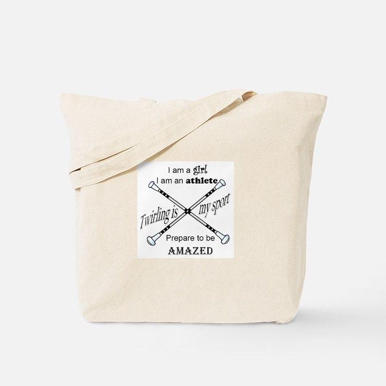 Twirling Athlete Tote Bag