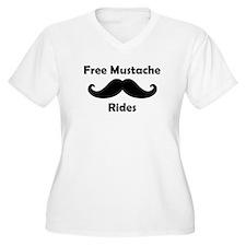 Free Mustache Rides Plus Size T-Shirt