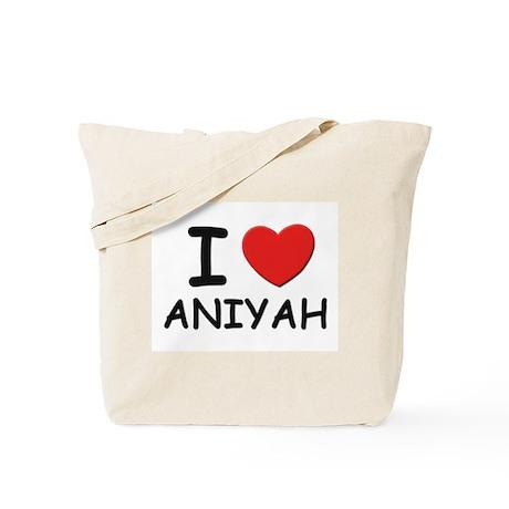 I love Aniyah Tote Bag