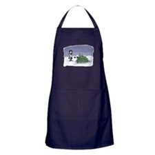 Felling The Holiday Tree Apron (dark)