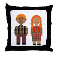 Ann and Andy 2 Throw Pillow