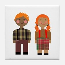 Ann and Andy 2 Tile Coaster