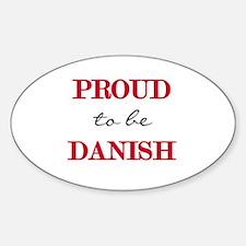 Danish Pride Oval Decal