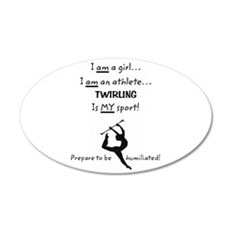 Twirling Athlete 20x12 Oval Wall Decal