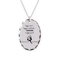 Twirling Athlete Necklace
