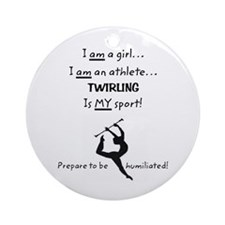 Twirling Athlete Ornament (Round)