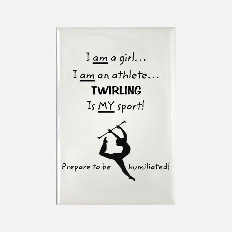 Twirling Athlete Rectangle Magnet (10 pack)