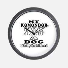 Komondor not just a dog Wall Clock