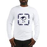 The Celtic Crane Long Sleeve T-Shirt - Wht/Gry