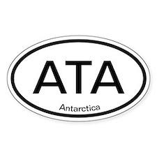 ATA Antarctica Oval Decal