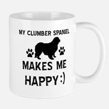 My Clumber Spaniel dog makes me happy Mug
