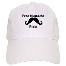 Free Mustache Rides Baseball Cap