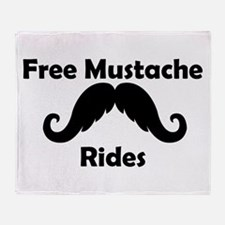 Free Mustache Rides Throw Blanket