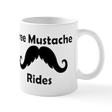 Free Mustache Rides Small Mug