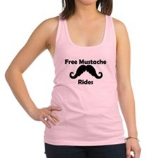 Free Mustache Rides Racerback Tank Top