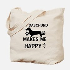 My Daschund dog makes me happy Tote Bag