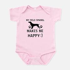 My Field Spaniel dog makes me happy Infant Bodysui