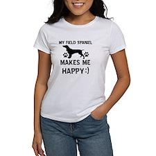 My Field Spaniel dog makes me happy Tee