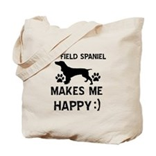 My Field Spaniel dog makes me happy Tote Bag