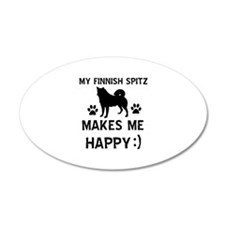 My Finnish Spitz dog makes me happy Wall Decal