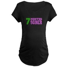 7 Months Sober - Pregnancy - Neon Maternity T-Shir