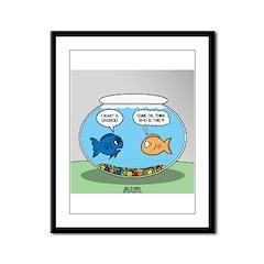 Fishbowl Divorce Framed Panel Print